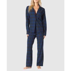 第二件$1收格纹睡衣套装