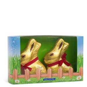 LindtEaster Milk Chocolate GOLD BUNNY 2-Pack (14.1 oz)