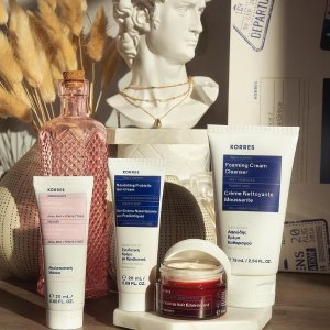低至2.4折 + 免邮独家提前享:Korres 护肤产品热卖 快入热卖护肤套装