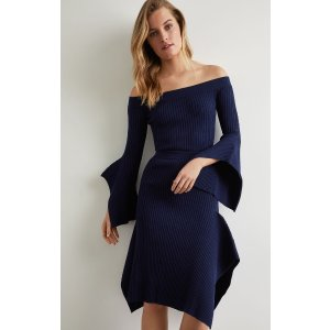 BCBGMAXAZRIA3件5折露肩连衣裙
