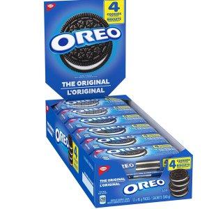 $10.26(原价$14.74)限今天:Oreo 奥利奥 原味巧克力夹心饼干 4x12包