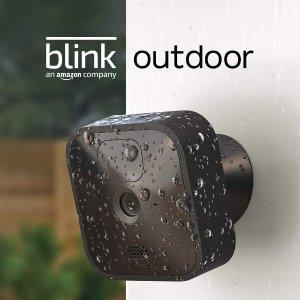折后€89起 最强的安全保障Blink Outdoor 户外全天候无线安防摄像头 自带夜视、动态监测