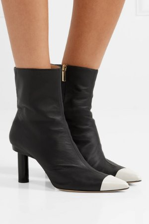 Tibi | Grant two-tone leather ankle boots | NET-A-PORTER.COM