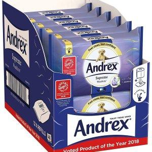 8折 仅售£12(12包x40片)Andrex湿厕纸多款组合套装特卖 更舒适的选择