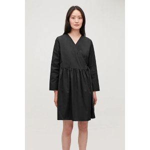 COSPLEATED FOLD-OVER DRESS
