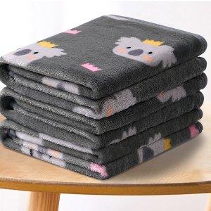 折后仅€4.61/条 毛孩子超喜欢!Garatia 宠物绒毯 柔软亲肤 吸水保暖 图案颜色超可爱