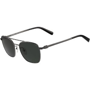 Salvatore FerragamoPolarized Squared Aviator Sunglasses - Eyedictive