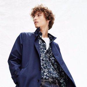 超高享额外6.5折Club Monaco 都市时尚风 男士高档秋冬羊毛大衣折上折热卖