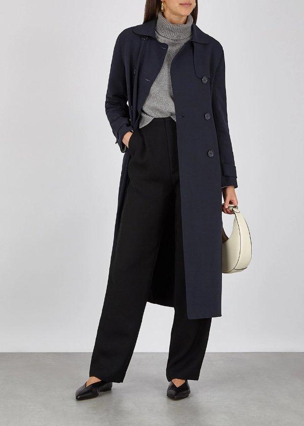 羊毛法式大衣