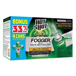 $6.12Hot Shot 无痕空气烟雾杀虫剂 4瓶装
