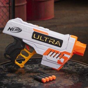 $9.8(原价$29.99)白菜价:Nerf Ultra Five Blaster 泡沫冲击波玩具枪 准确性和速度兼得
