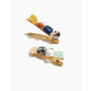 MadewellTwo-Pack Multicolored Shapes Alligator Hair Clips