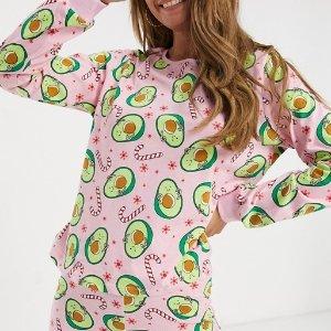 一律8.5折 £20收封面牛油果睡衣ASOS 全场睡衣、家居服热卖 宅家也要舒适美丽