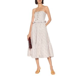 GanniFloral cotton midi dress