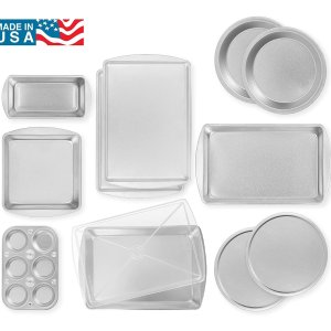 $16.62EZ Baker Uncoated, Durable Steel Construction 12-Piece Bakeware Set