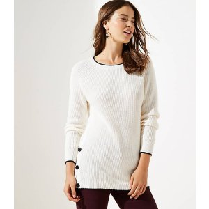 LOFTSide Button Tunic Sweater | LOFT