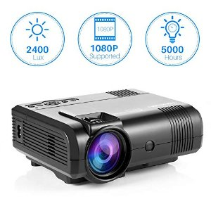 $43.99Tontion 2400 Lux Video Projector supporting 1080P -50,000 Hour LED Full HD Mini Projector