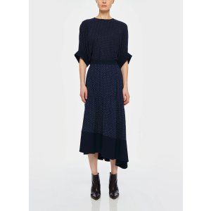 TibiPindot Shirred Panel Skirt