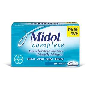 $4.34(原价9.39)Midol 月经止痛片 40粒装 每月必备超有效