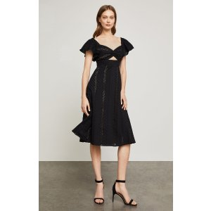 BCBGMAXAZRIAEmbroidered Fit-And-Flair Dress