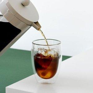$45(原价$55.96)Bodum 双层透明玻璃杯6件套 隔热又美观 咖啡美酒都合适