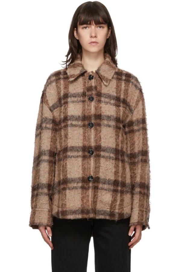 羊毛格子外套