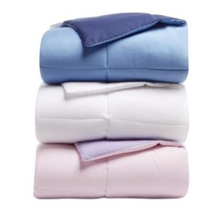 $19.99 Martha Stewart Collection Essentials Reversible Down Alternative Comforter, Created for Macy's