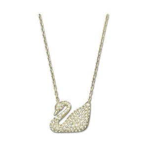 431ab2942 SwarovskiGet $20 off $150 purchase.| Swan Necklace, White, Gold plating