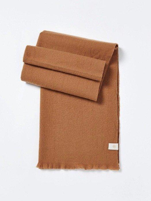 经典棕色羊毛围巾