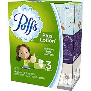 $4.49Puffs 超柔呵护面巾纸3盒 372张