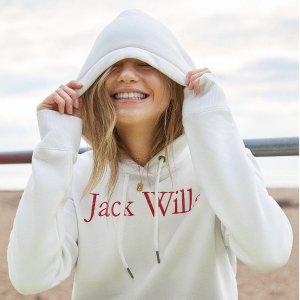 低至5折 蝴蝶领上衣£8 封面款£22Jack Wills 官网校园风男女服饰季中大促
