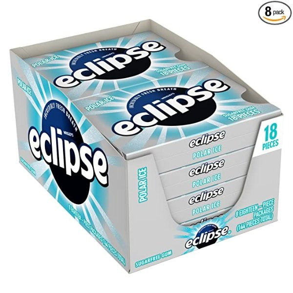 Eclipse 冰极无糖薄荷口香糖 8盒