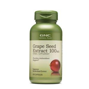 GNC葡萄籽精华 100 mg 100粒