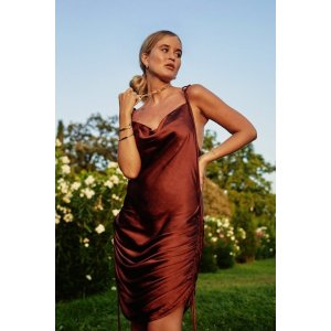 Nasty GalIn Love With the Drape of You Satin Cowl Dress | Shop Clothes at Nasty Gal!