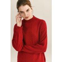 Ecru Emissary Maisie 红色半高领羊绒衫