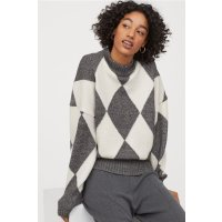 H&M 格子毛衣