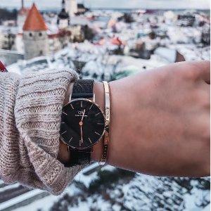 低至59折,送人自用经典+实用Daniel Wellington时尚手表精选热卖