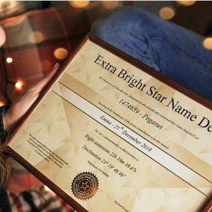 限今天:Star-Name-Registry 星星命名纪念套装,送亲朋好友和爱豆