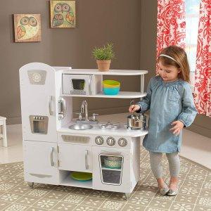 $129.97(原价$189.99)KidKraft 儿童仿真厨房玩具 清新白 在生活中启发宝宝的认知