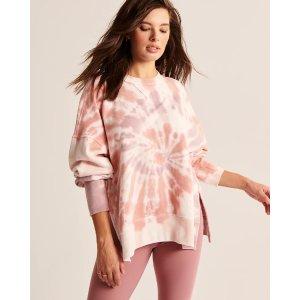 Abercrombie & FitchWomen's Tie-Dye Tunic Crewneck Sweatshirt | Women's Up to 30% Off Select Styles | Abercrombie.com