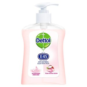 Dettol E45 杀菌洗手液 玫瑰味, 250 ml