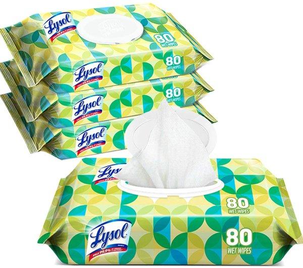 Lysol 消毒湿巾80抽 4包