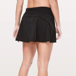 $64起+免邮Lululemon官网 女款运动短裙上新 黑色百褶裙 $68