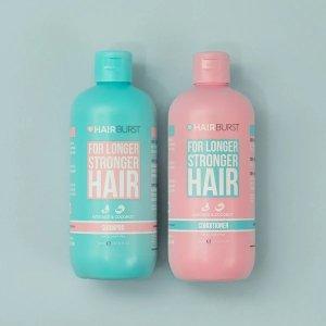 Hairburst强健生长天然洗发水+护发素套装