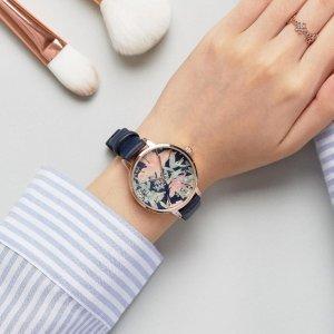 全部7折 黑金花卉款只要$52.50限今天:Amazon 精选 Vince Camuto 时装腕表