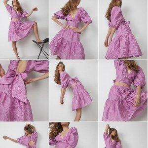 低至5折 裙子$49起Bardot 时尚美衣专场,收经典鱼骨蕾丝美裙,封面款泡泡袖上衣