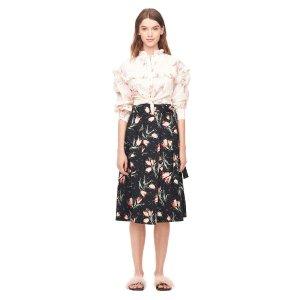 Rebecca TaylorIkat Tulip Poplin Wrap Skirt 半身裙