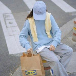 全场75折 €24收封面婴儿蓝卫衣ASOS 莫兰迪色软糯卫衣、卫裤热卖 活力减龄 出街必备