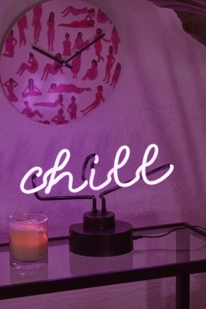 Chill Neon Sign Table Lamp | Urban Outfitters