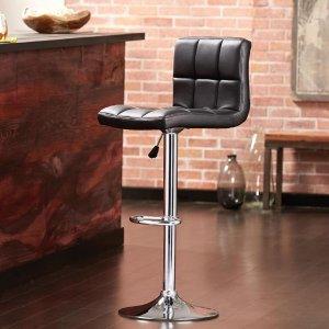 Home Decorators Collection Adjustable Height Black Swivel